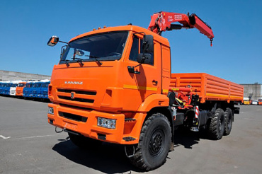 Бортовой автомобиль 659000 с КМУ SOOSAN SCS746L TOP на шасси КАМАЗ-65117-3010-50